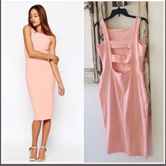 ASOS Dresses & Skirts - 🌸ASOS - Pink Open Back Body-con midi dress🌸